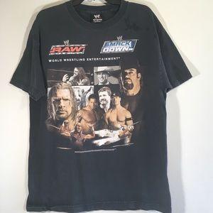 Vintage WWE T Shirt Smackdown Raw Wrestling WWE